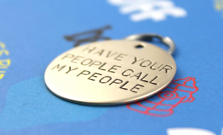 Large pet tag, have your people call my people