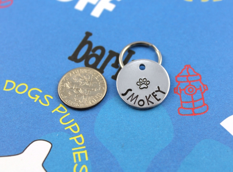 Small customized dog or cat ID tag