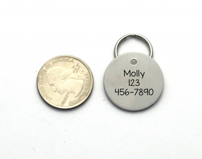 Engraved Stainless Steel Pet Id Tag Personalized Unique