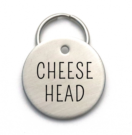 Cheese Head - Cool Pet ID Tag - Green Bay Packers Dog Tag