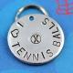 Customized metal dog ID tag - I love tennis balls