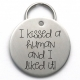 Funny Engraved Dog Tag, I Kissed a Human and I Liked It, Stainless Steel Metal