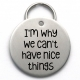 Engraved Dog Tag, I'm Why We Can't Have Nice Things