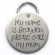 Unique Engraved Pet Tag, Stainless Steel, Please Call My Mum