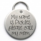 Unique Engraved Pet Tag, Stainless Steel, Please Call My Mom
