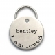 I Am Loved - Custom Handmade Pet Name Tag - Engraved Stainless Steel - Simple