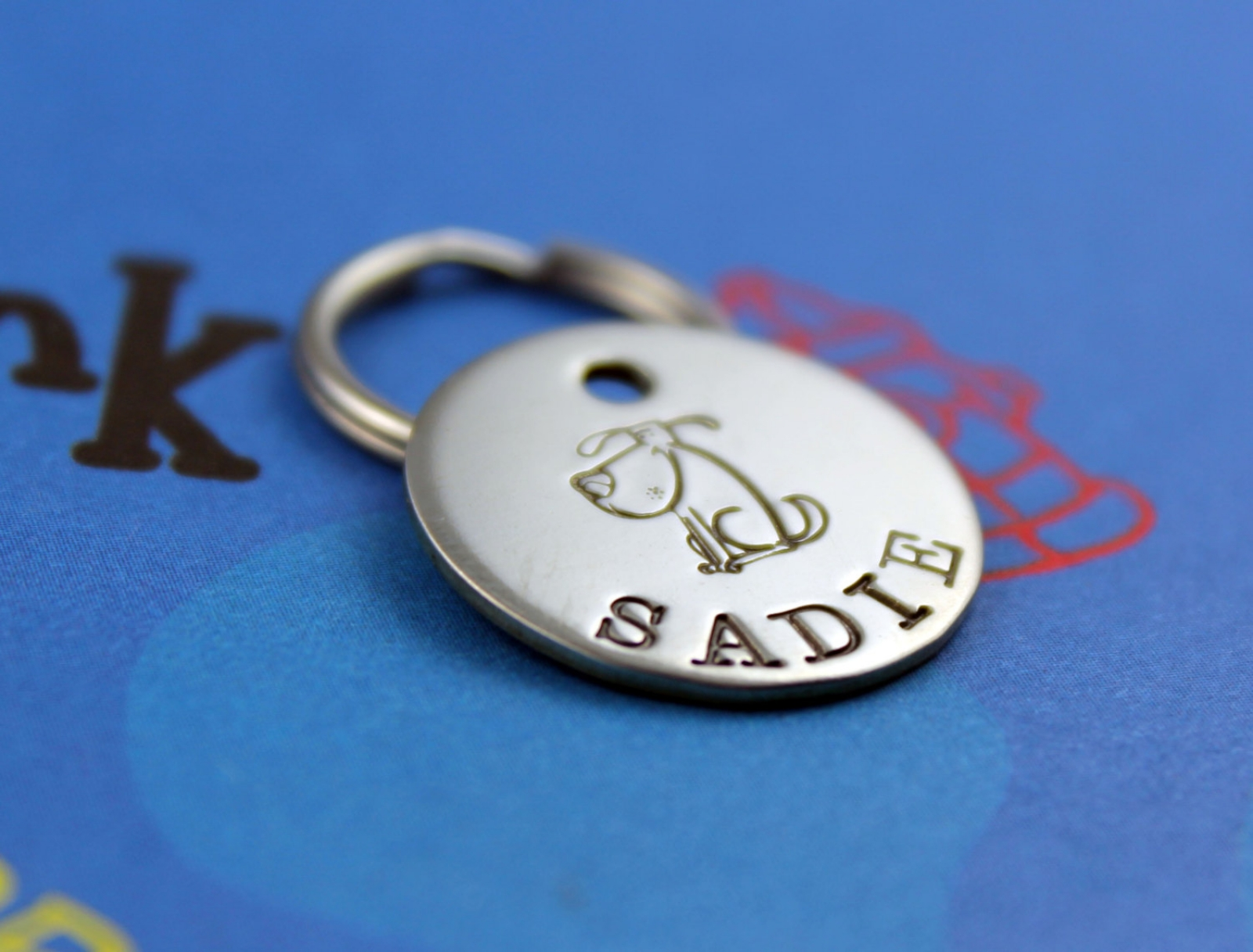 Small Customized Metal Pet Tag Critter Bling