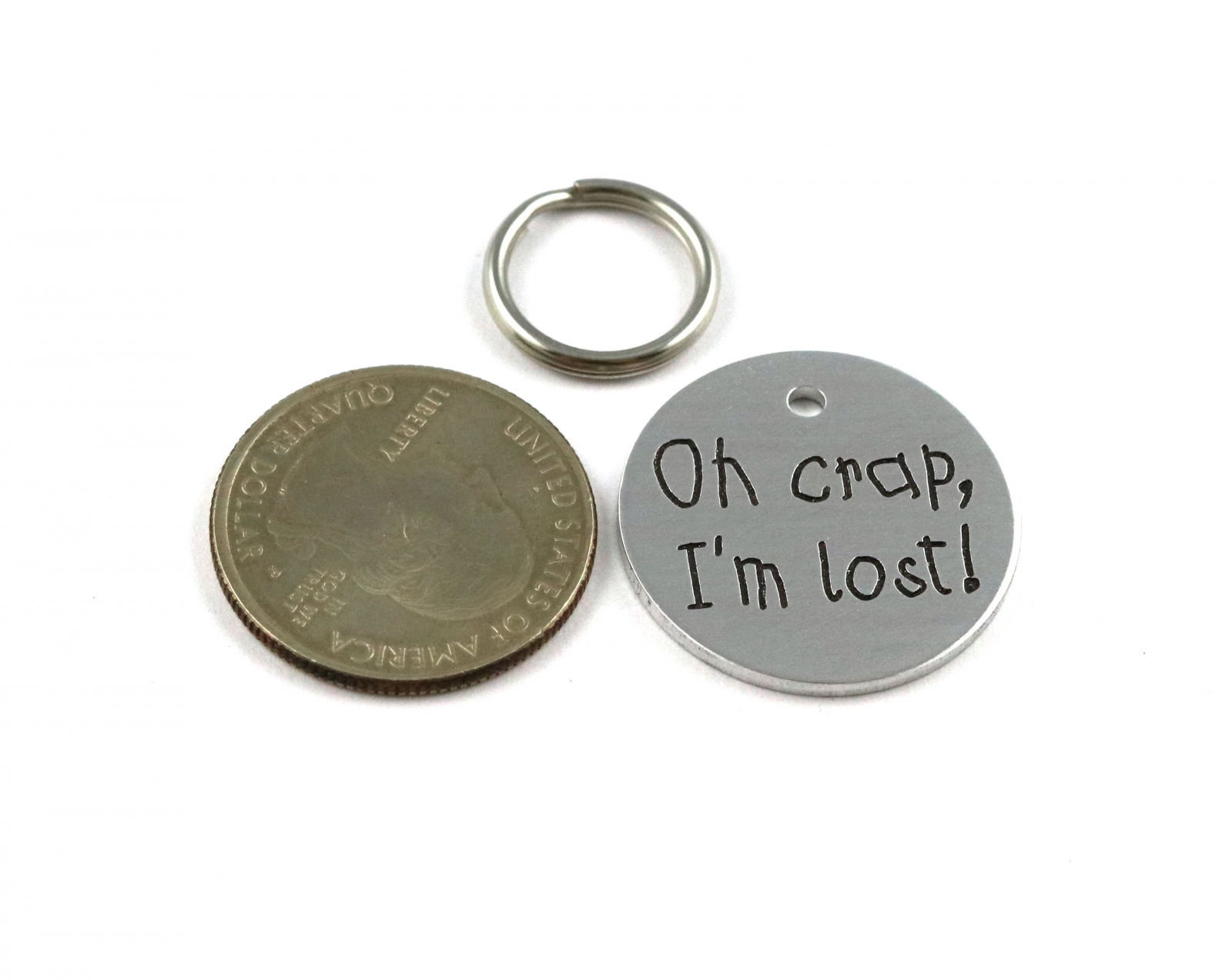 Oh Crap I M Lost Funny Engraved Dog Or Cat Tag Critter