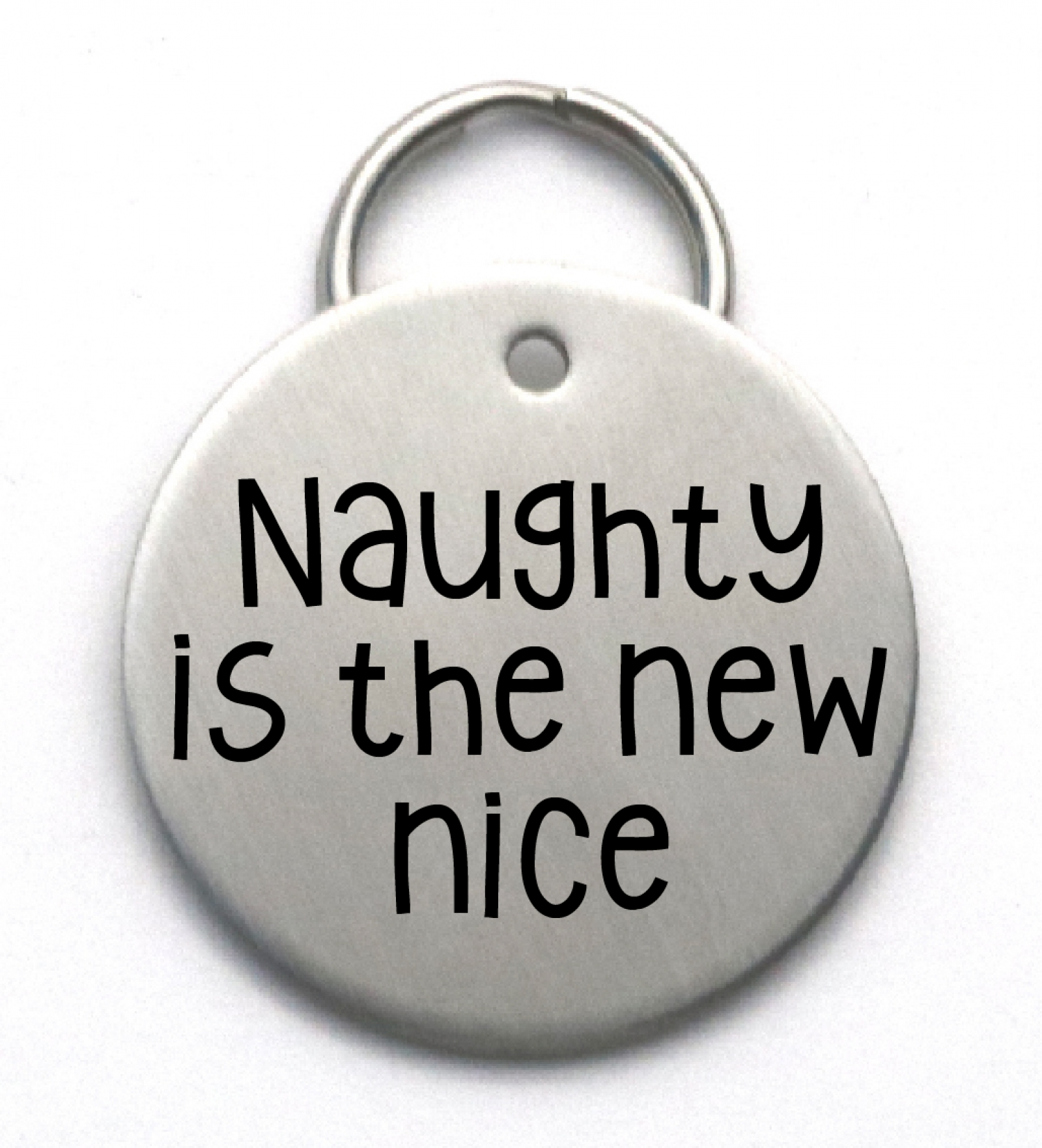 Funny Dog Tag Custom Christmas Pet Id Tag Naughty Is