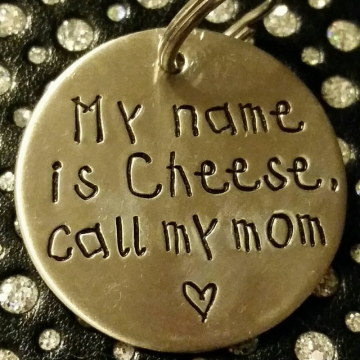 critter bling call my mom tag