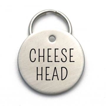 Cheese Head - Cool Pet ID Tag - Green Bay Packers Inspired Dog Tag