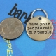 personalized gold pet tag call my people