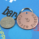 Custom metal pet ID tag, counter surfer, hand stamped