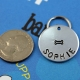 Customized Hand Stamped Pet Tag with Bone - Size Demo