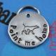Unique customized metal pet tag - point me home