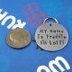 LARGE Customized Dog Tag - Unique Pet Tag -  I'm Lost!