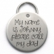 Unique Engraved Pet Tag, Stainless Steel, Please Call My Dad