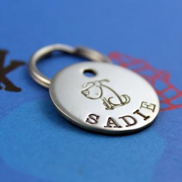 Small customized metal pet tag