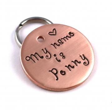 My Name is -  Dog Tag - Personalized handstamped Pet Tag