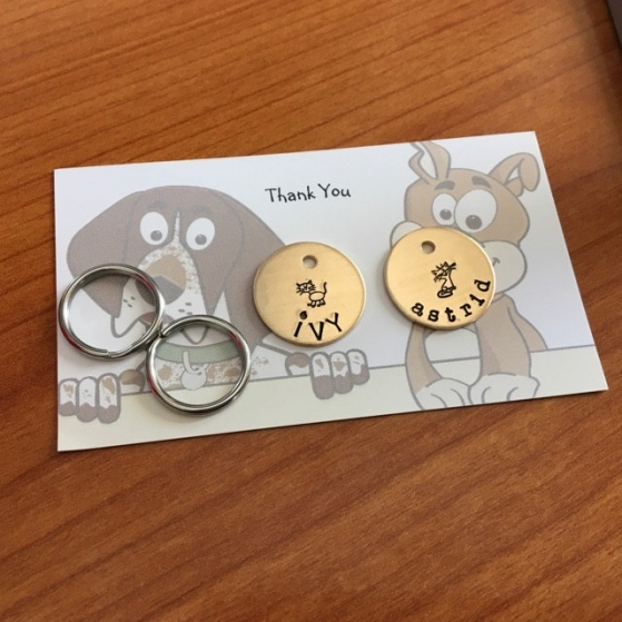 critter bling small tags
