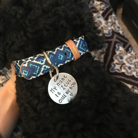 critter bling customized tag