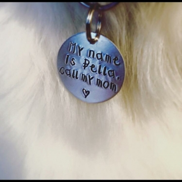 critter bling custom tag