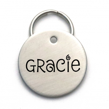 Custom Metal Dog Tag - Simple Cute Engraved Pet Tag